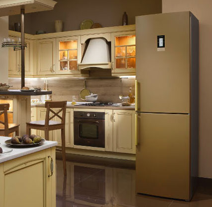 Купить холодильник кремового цвета