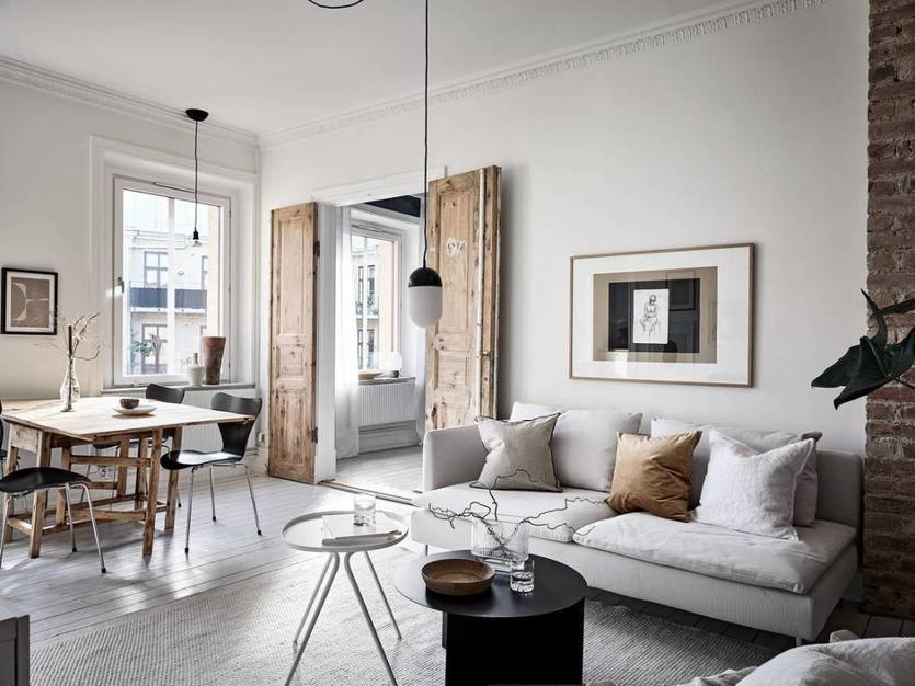 Дизайн гостиной в скандинавском стиле: правила оформления, советы, тренды и 70  фото для вдохновения