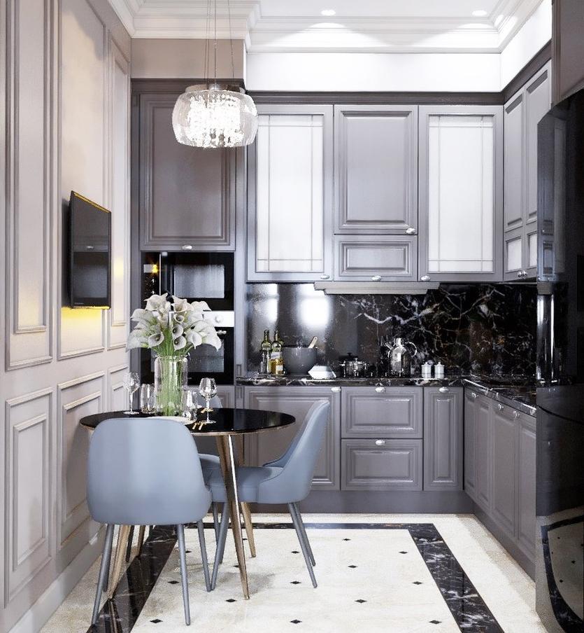 предназначалась белая кухня в стиле неоклассика фото фото