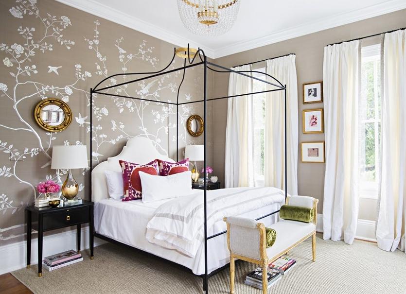 Как скомбинировать обои в комнате: 15 правил, 45 фото-примеров