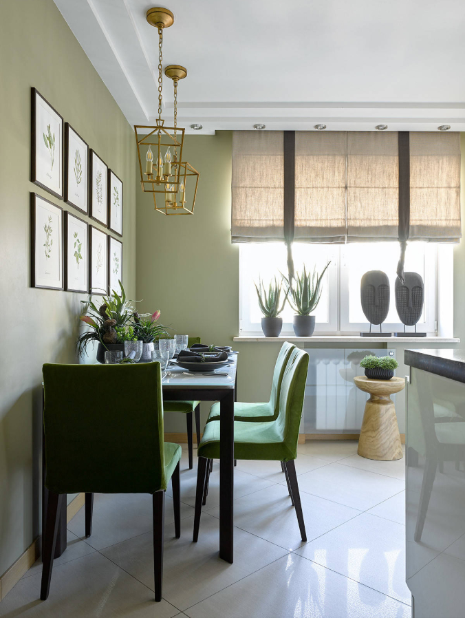Как оформить стену над обеденным столом: 12 идей, 50 фото