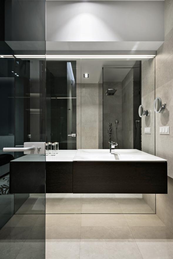 Ванная комната в стиле хай-тек: 70 примеров, советы по оформлению
