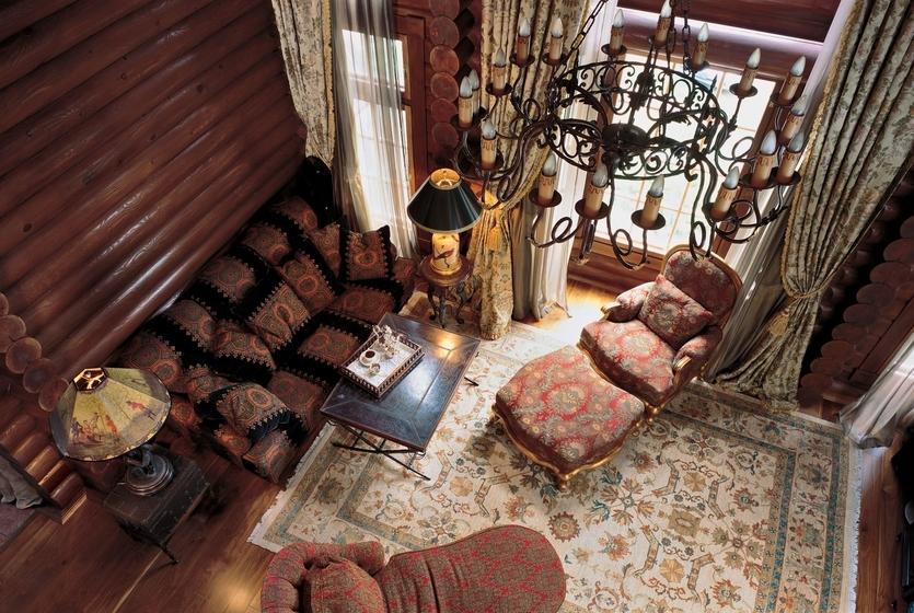 Интерьер дома из бревна: выбор стиля, особенности оформления и 60+ фото