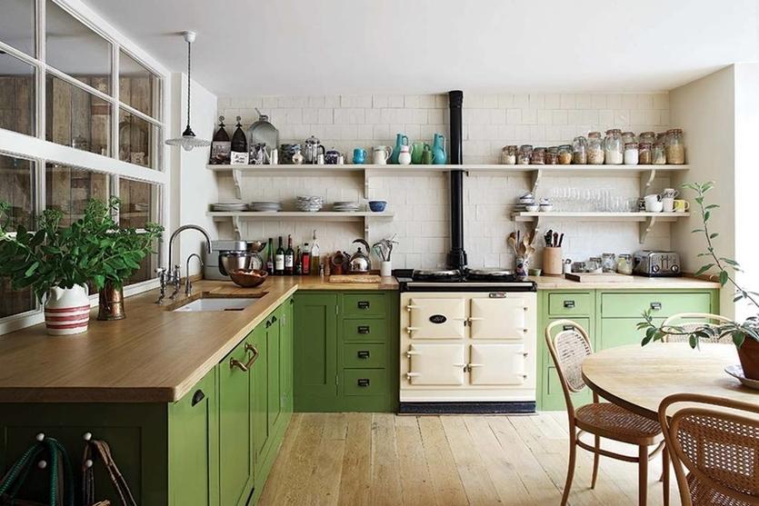 Зеленые цвета и тона в кухне: 75 идей дизайна интерьера от SALON.ru