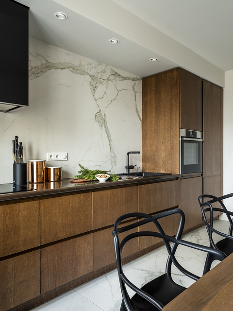 Кухня под дерево: 90+ идей дизайна интерьера с фото