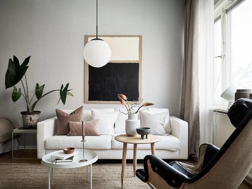 Гостиная в скандинавском стиле — 80 фото идеального дизайна гостиной